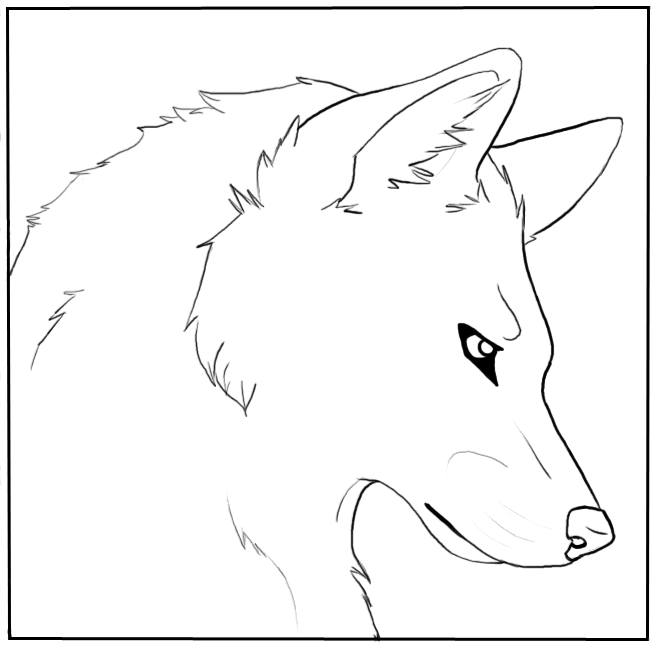 Wolf Face Coloring Pages Pictures