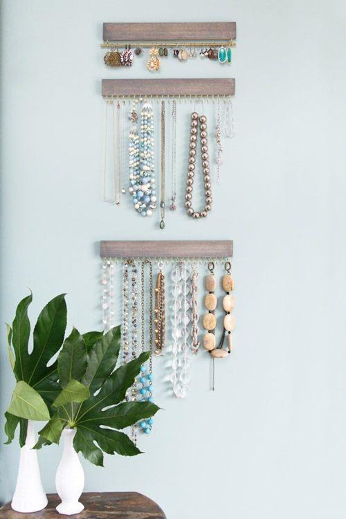 18 ideas para organizar collares pendientes y pulseras - Colgador de collares ...