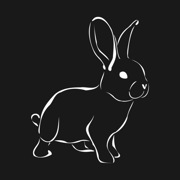 Cute Bunny Silhouette - Cute Animals - T-Shirt And More Products | Fstaunt | TeePublic... #rabbit #bunny #rabbitlover #cuteanimal #cutebunny #cuteanimals #bunnygift