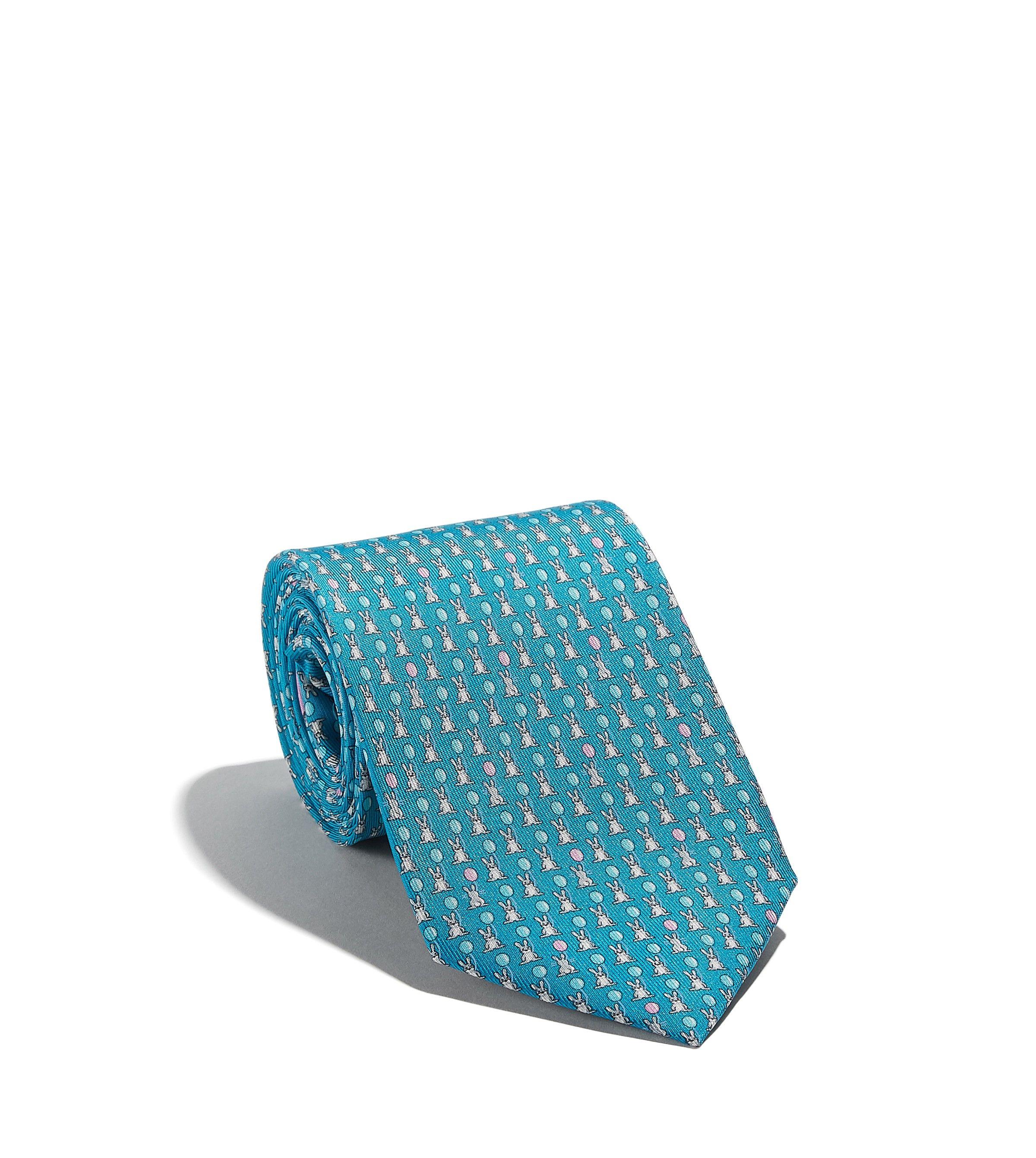 37a32f150c68 SALVATORE FERRAGAMO Bunny With Balloon Printed Tie. #salvatoreferragamo #