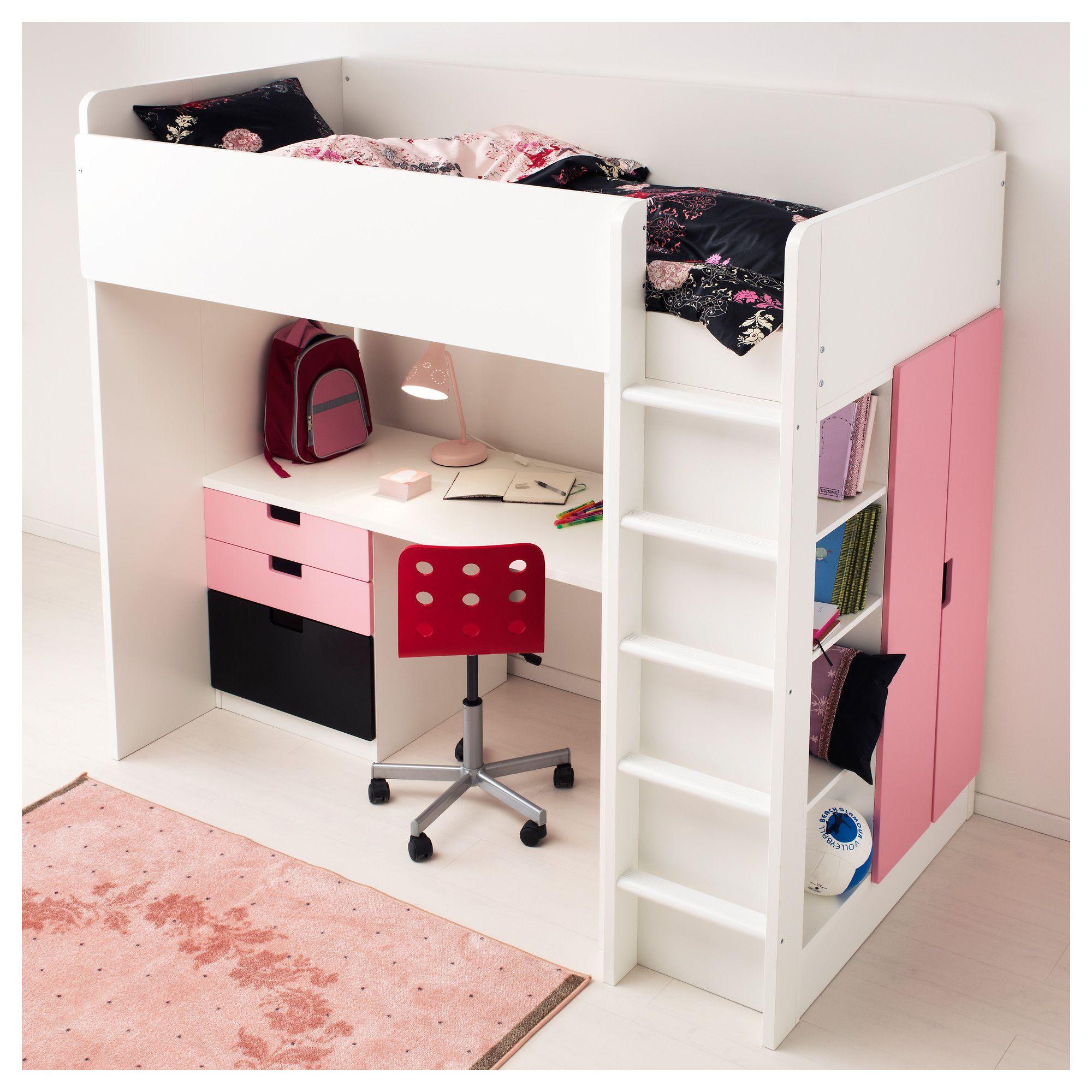 Stuva Loft Bed Combo W 2 Shelves 2 Doors White Ikea Alexis