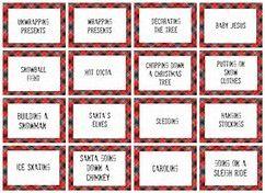 Image result for Christmas Pictionary Word List Printable ...