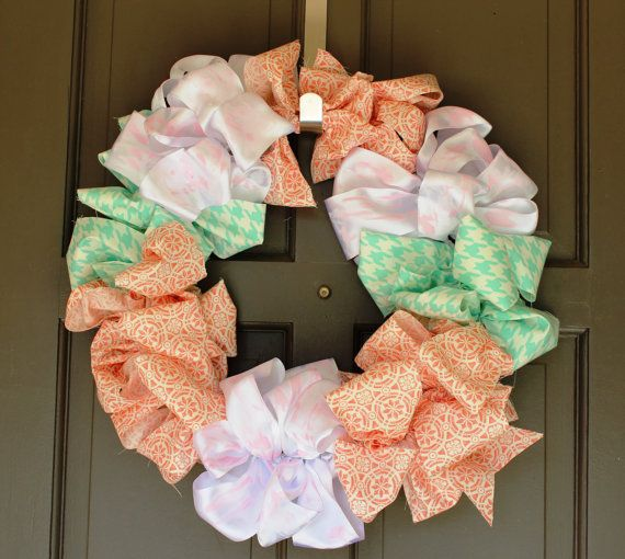 Bold Spring and Summer WreathBold Color Fabric by CaretoCreate, $40.00