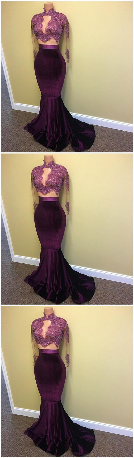 Elegant prom dresslong sleeve evening dressformal gown from