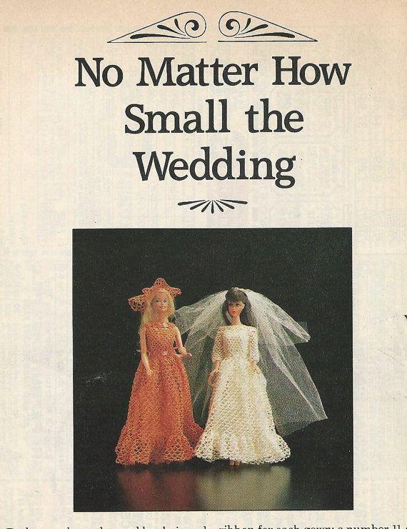Vintage Tatting Pattern Barbie Wedding Dress by PennySueCrochet