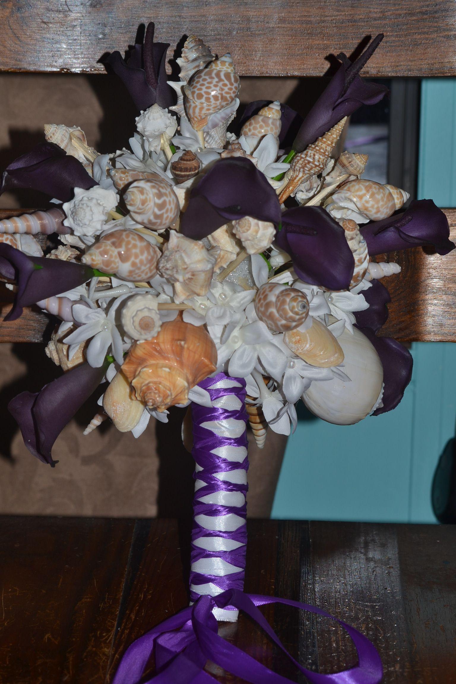 Seashell Bouquet Perfect For A Beach Wedding Wedding Flowers