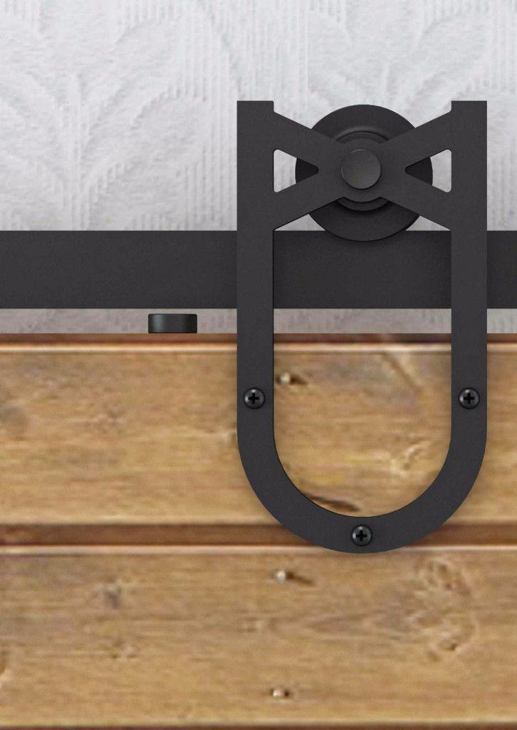 Barn Door Hardware Horse Shoe 6ft Black   Barn door ...