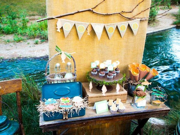 Fish theme party adults fisherman fishing themed for Fishing theme party ideas