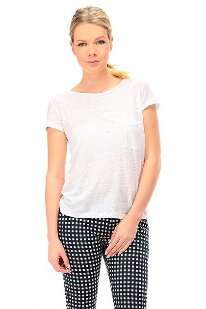 Kocca - T-Shirts - Abbigliamento - T-Shirt in lino con taschino applicato  sul davanti. Retro con scollo profondo e catenine. - 60001 - € 65.00 de66d71420e