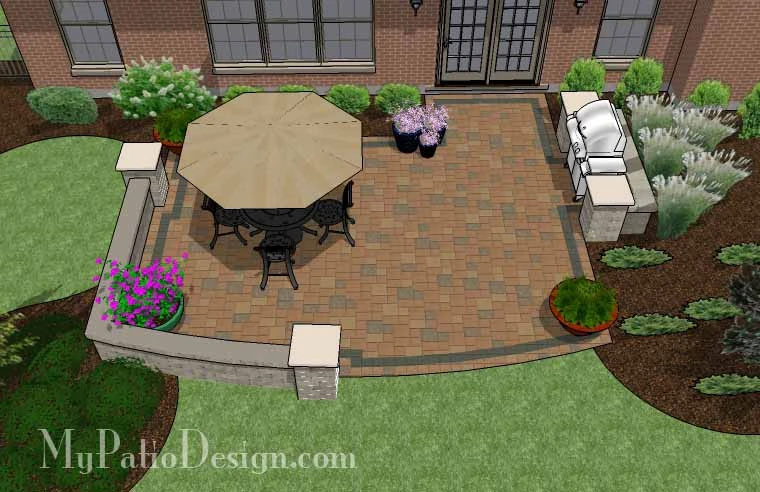 01. Patio Designs for Straight Houses - MyPatioDesign.com ... on Patio Designs For Straight Houses id=27829