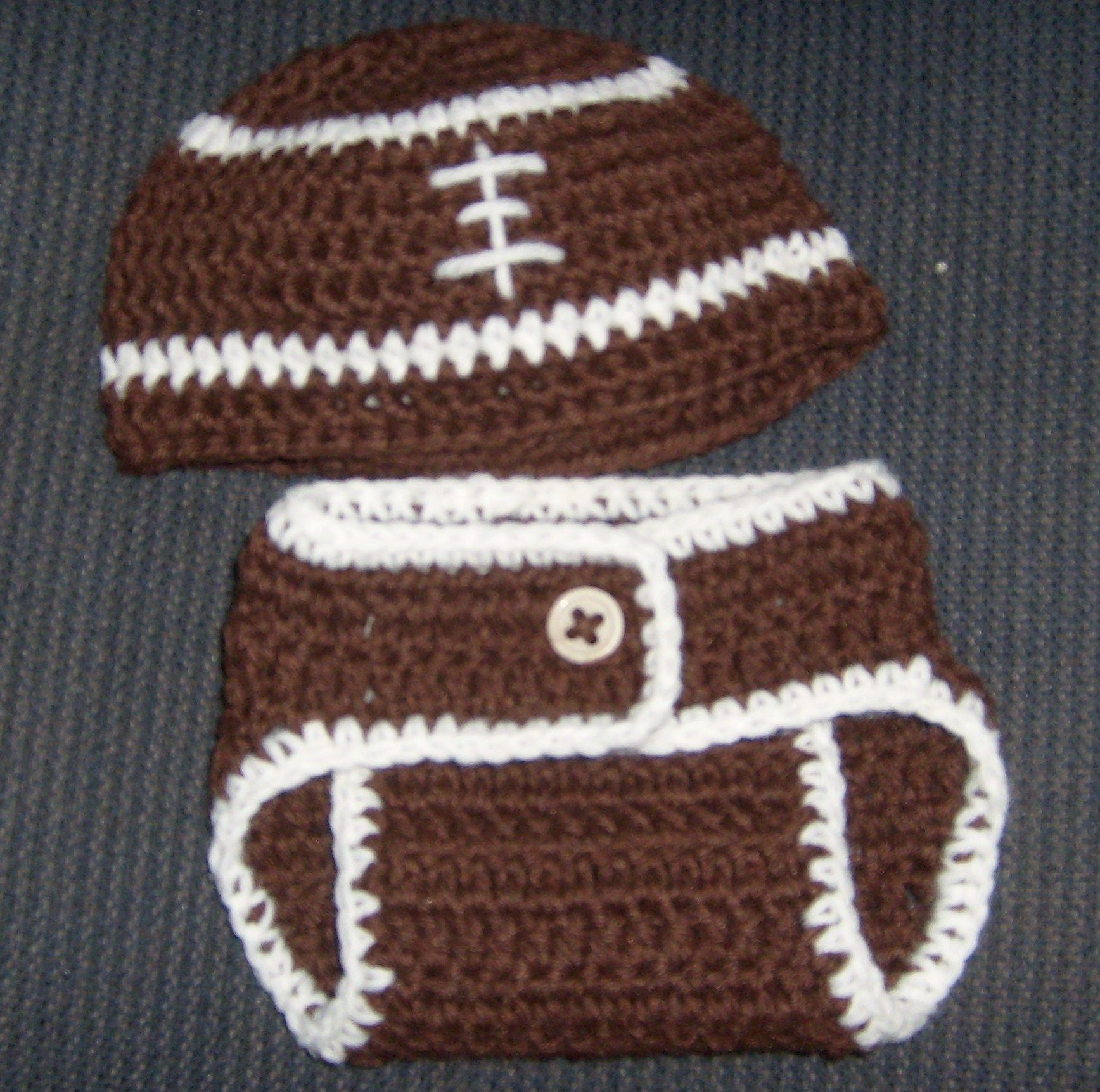 6 Month Football and Diaper Cover. Diaper Cover http://www.craftsy ...
