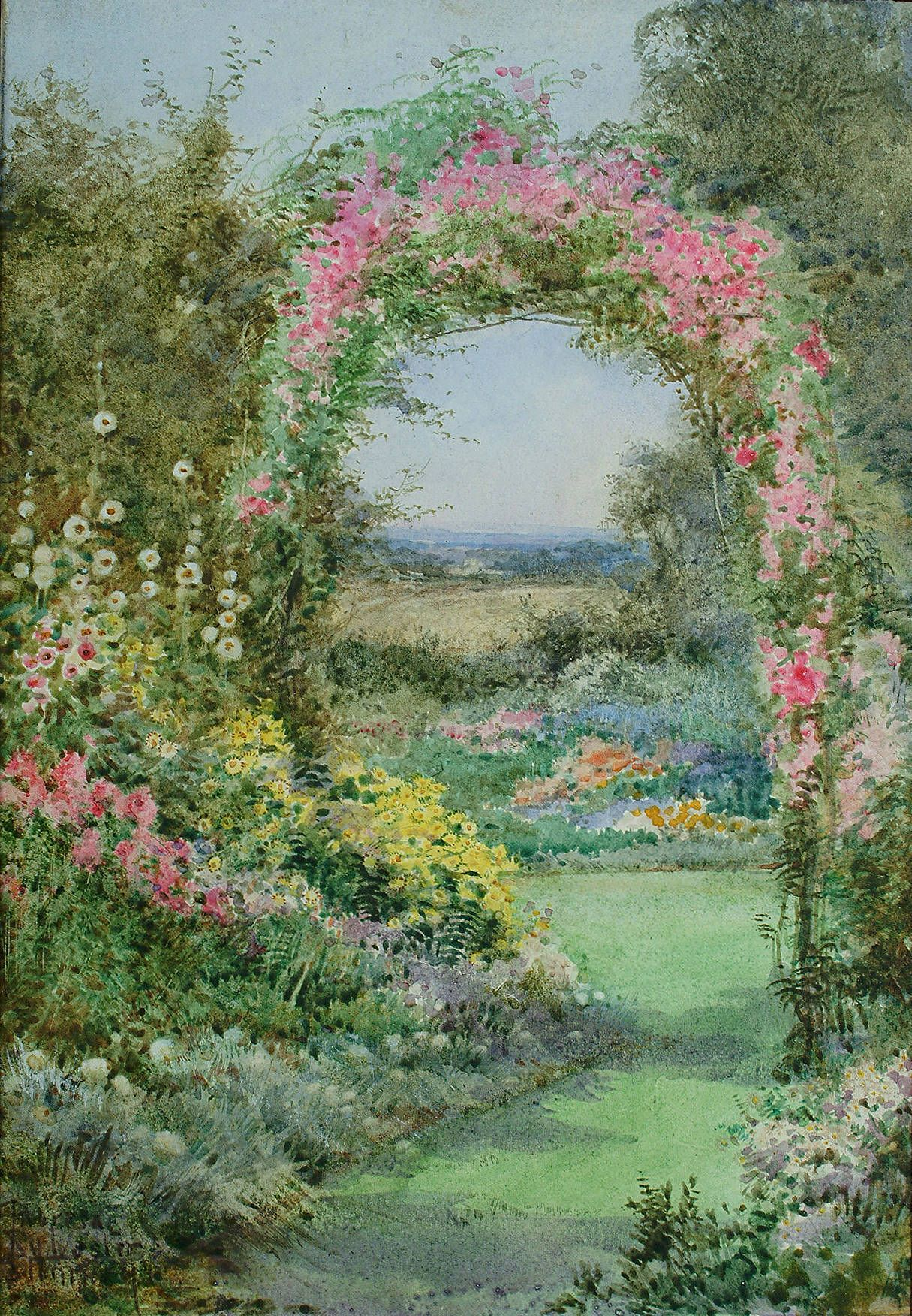 English country garden paintings - Theresa Sylvester Stannard Dream Gardengarden Artenglish