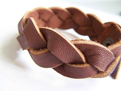 Made by Me. Shared with you.: Feature: Magic Braided Leather Cuff (and Headband)