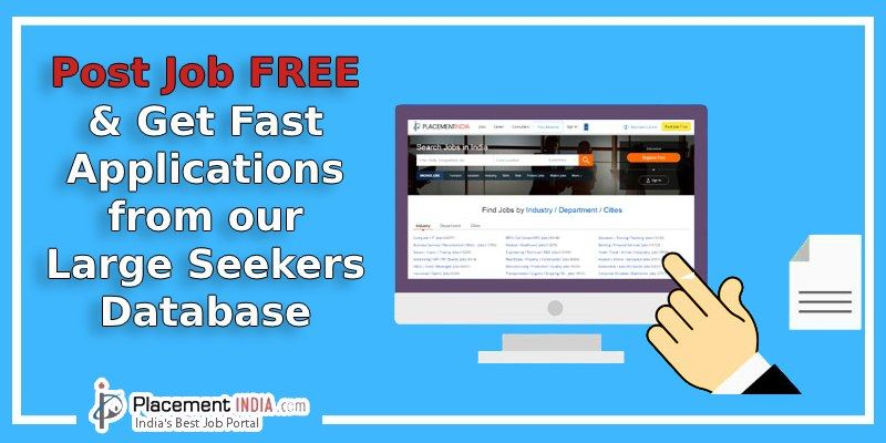Post Job Free & Get Fast Applications from Our Large