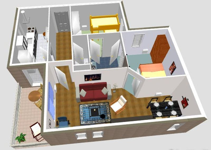 Sweet Home 3D software gratuito para diseño de interiores Web - Plan Maison Sweet Home 3d