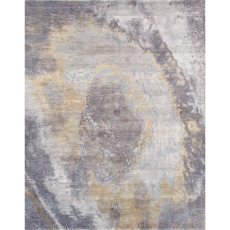 Cosmo Abstract Hand Knotted Gray Area Rug Wool Area Rugs Area Rugs Area Rugs For Sale