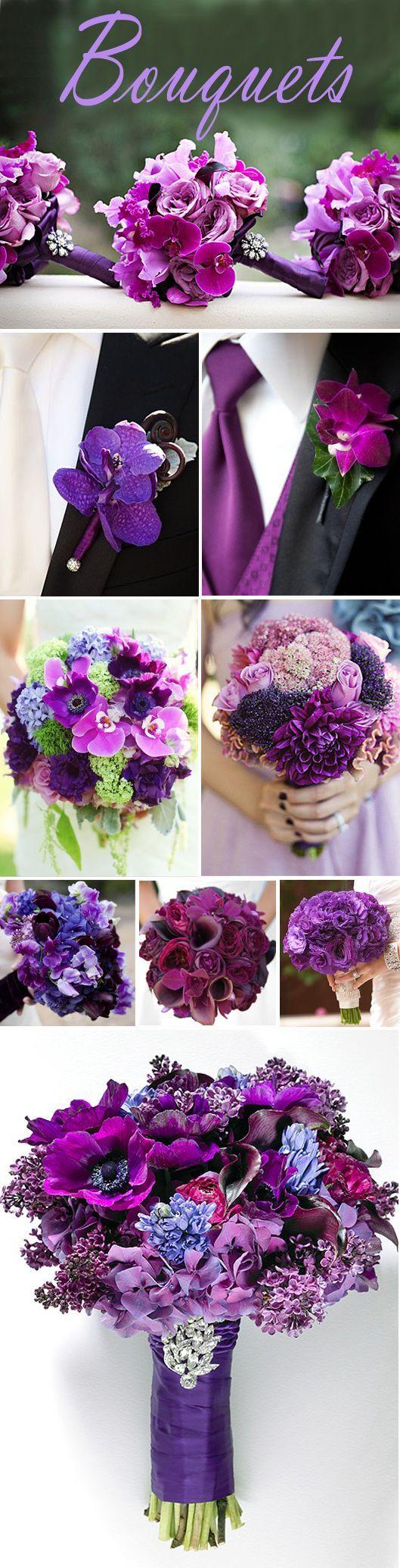 Your Wedding Color - Purple | Purple bouquets, Exclusively weddings ...