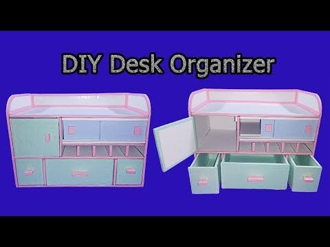 Diy Desk Organizer Drawer Organizer From Card Board Best Out Of Waste Art With Creativity 202 Desk Organization Diy Diy Drawer Organizer Diy Cardboard