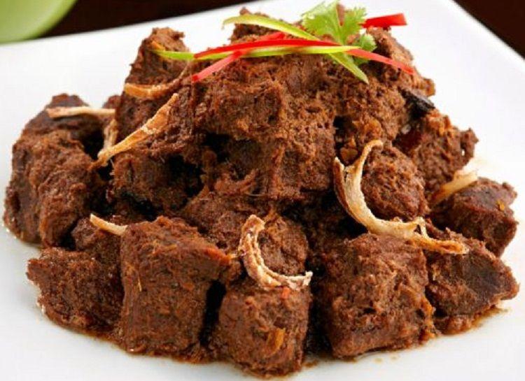 Resep Rendang Padang Hitam Indonesian Food Beef Rendang Recipe Food