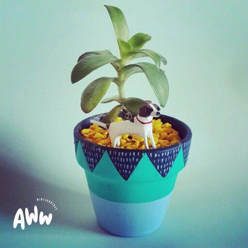 #cutedog #dog #cute #miniature #home #housedeco #homedecor #minidog #deco #flowerpot #maceta