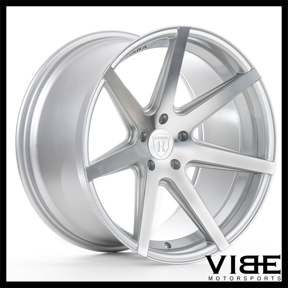 20 rohana rc7 silver concave wheels rims fits infiniti g37 sedan