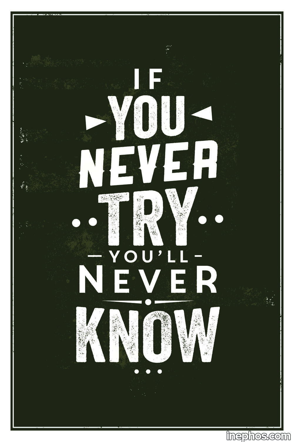 If You Never Try Quote Poster Art Motivational Posters For Room Inephos Quote Posters Motivational Quote Posters Try Quotes