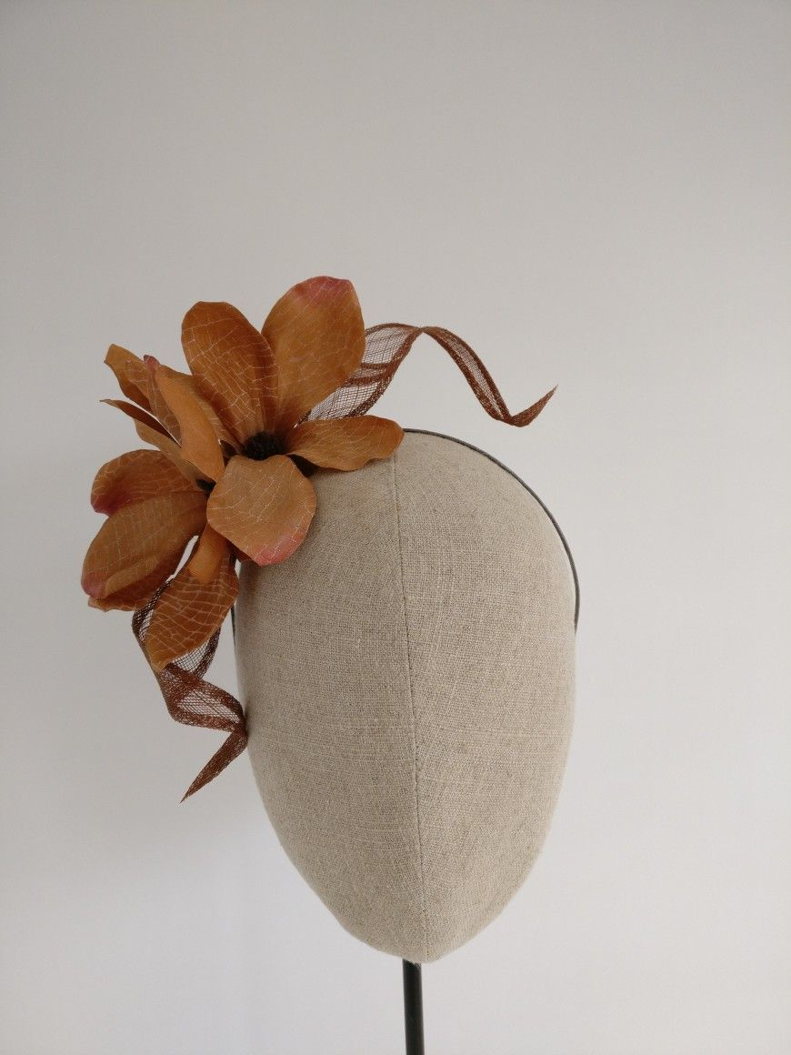 Rust Floral Fascinator by  tillyellenmillinery  75036eb35cc
