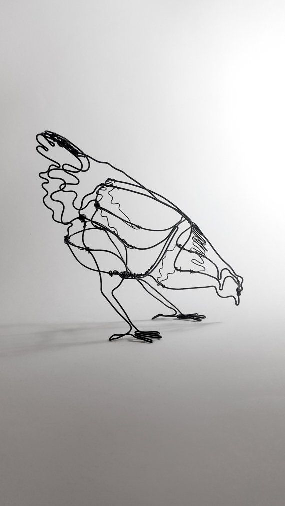 Handmade wire chicken sculpture | Wire Art | Pinterest | Handmade ...
