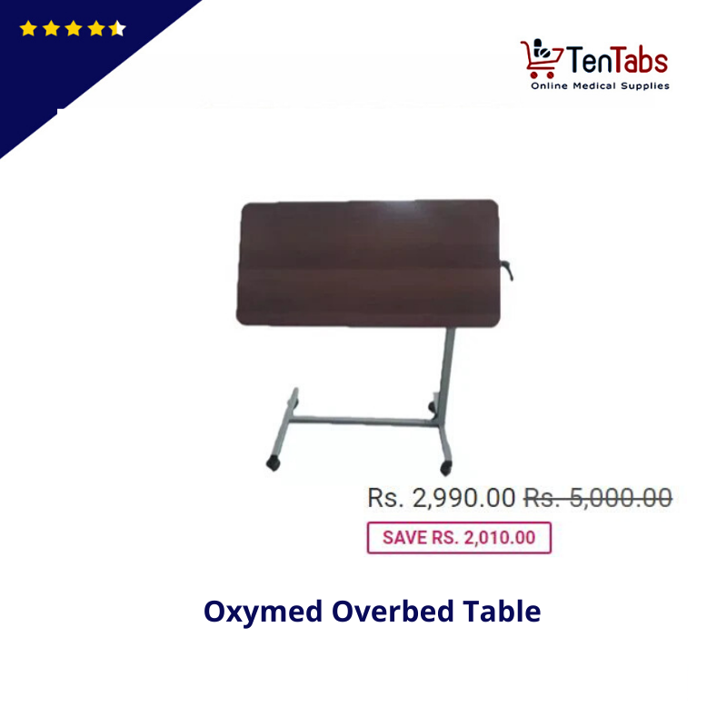 Oxymed Overbed Table In 2020 Overbed Table Wooden Tops Table