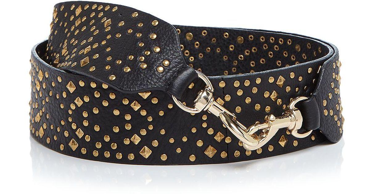 b54edd297048 Rebecca minkoff Studded Guitar Handbag Strap in Metallic