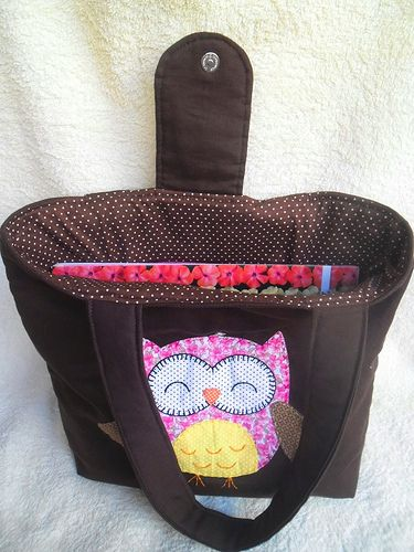 Bolsa corujinha, que fiz pra minha sobrinha.