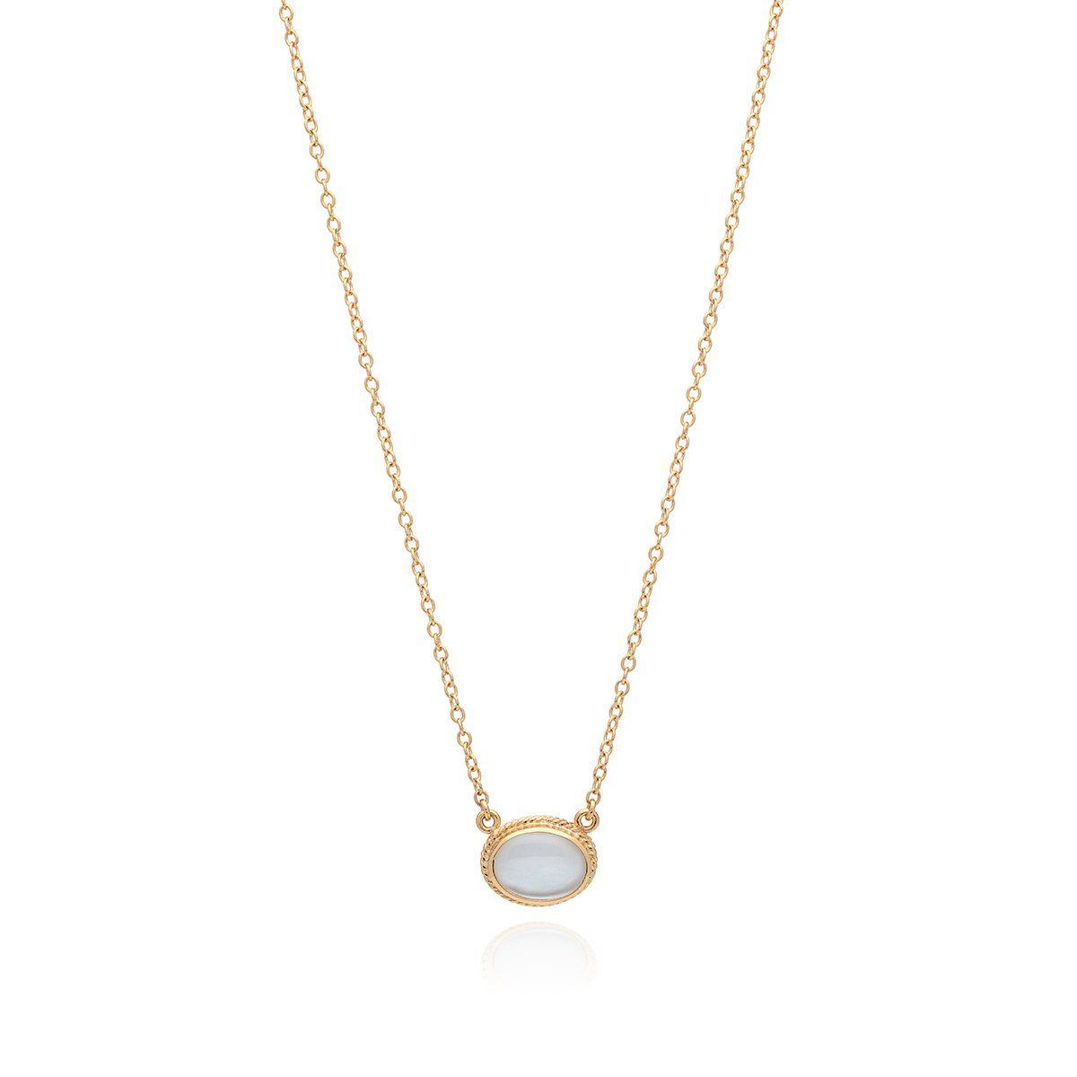 Mother of pearl oval pendant necklace gold products pinterest