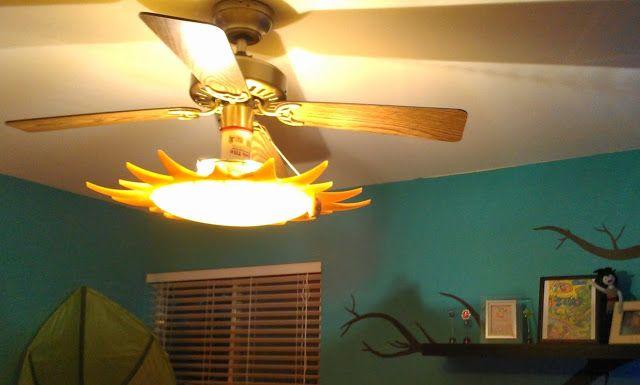 A Sun Light For The Ceiling Fan Ceiling Fan Rock Climbing Wall