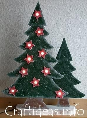 Charming Wood Craft For Christmas     Lighted Christmas Trees (free Pattern)