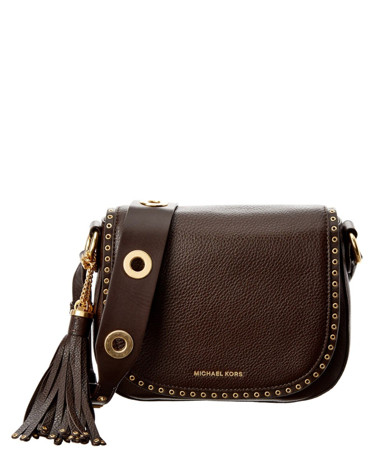 f498e74e5824e5 MICHAEL MICHAEL KORS MICHAEL MICHAEL KORS BROOKLYN MEDIUM LEATHER SADDLE  BAG'. #michaelmichaelkors #bags #shoulder bags #leather #lining #