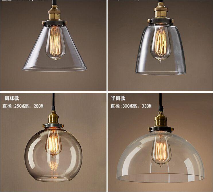 Goedkope Nieuwe retro glazen Plafond lampen led lampen woonkamer ...