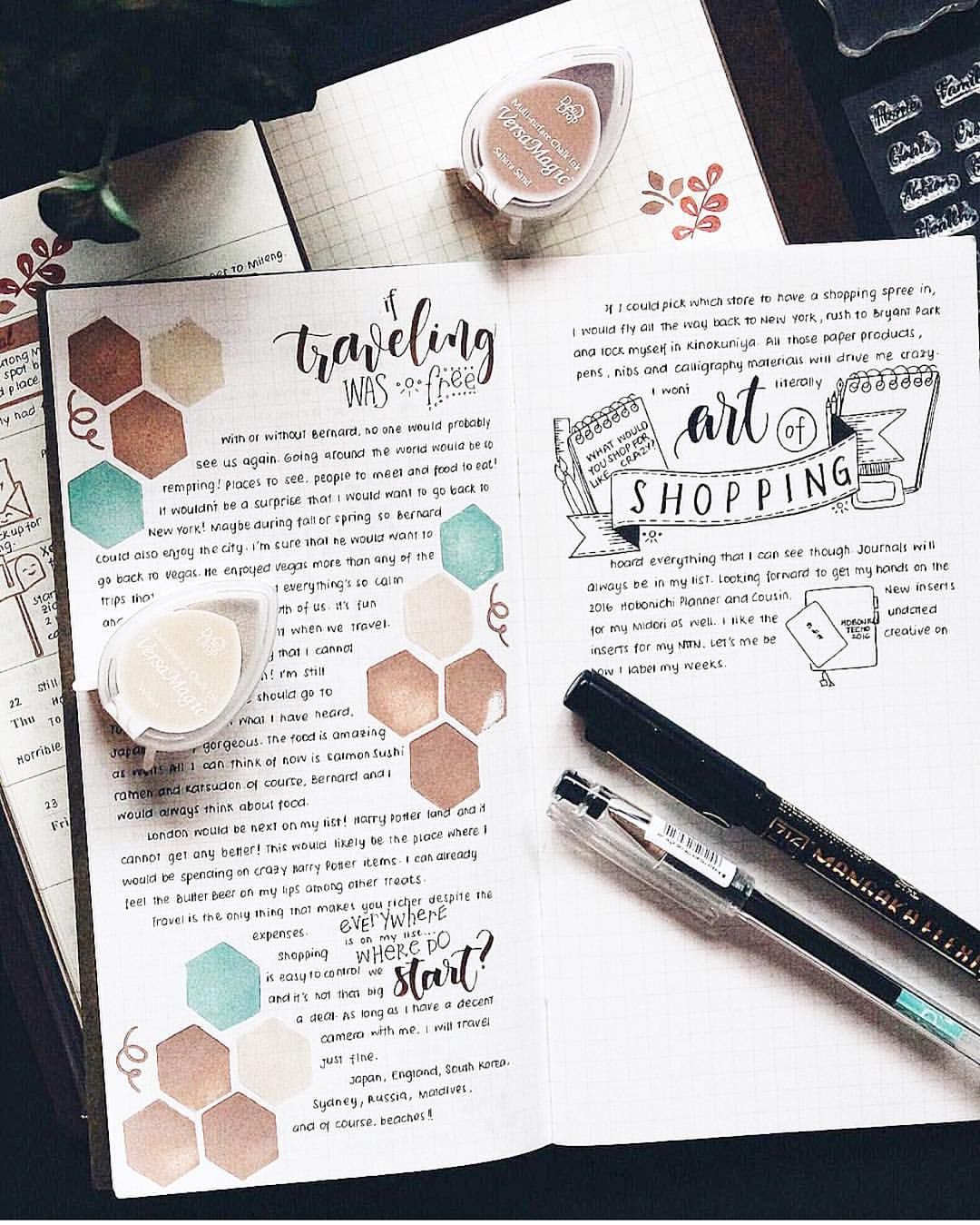 """Marryl on Instagram: """"Do you enjoy writing on your journal? Here's a beautiful #journalart inspiration from our Creative Team member @Aina Ipunt.kristina using some of our #MarrylStamps How beautiful is her calligraphy? If you'd like to try doing art journals using our stamps, please head on over to our website shop www.marrylcrafts.com/shop. We have a few stocks left. Happy stamping! What's on your journal?"""""""
