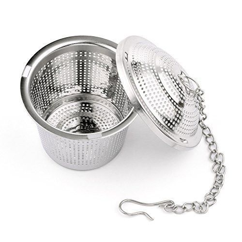 Transer Stainless steel Tea Infuser Tea Strainers Small Teapot for Steeping Loose Leaf Tea Silver Easy to Clean Tea Steeper Baskets Safe Easy to Use