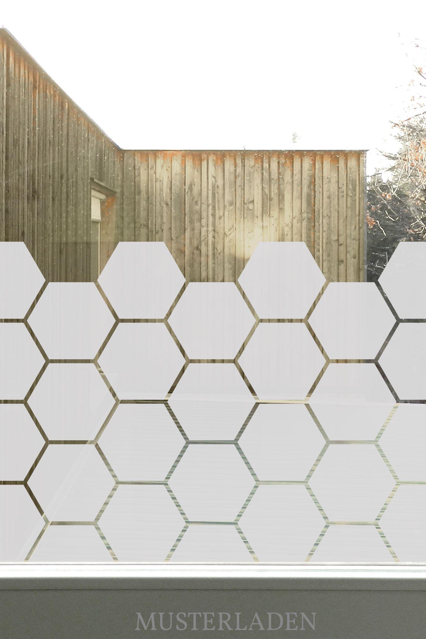 Glasdekorfolien Mit Bienenwaben Motiv Musterladen Blickdichte