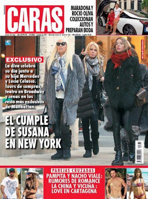 Esta semana en @caras | #EXCLUSIVO - EL CUMPLE DE SUSANA EN NEW YORK. Tours de compras, teatro y cenas. @Su_Gimenez