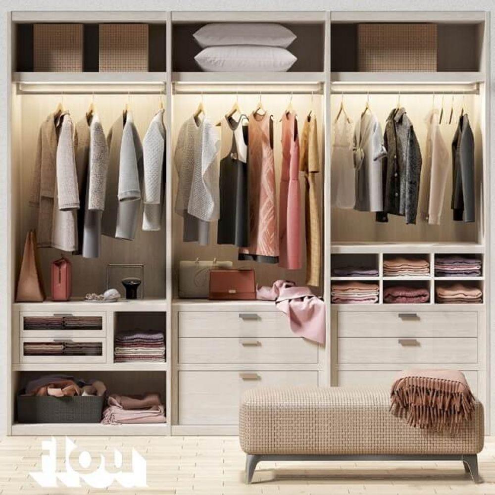 Flou Cloth Wardrobe 3D model (With images) Closet decor