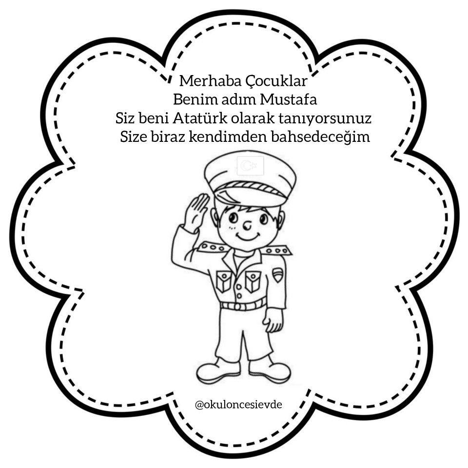 10kasim Ataturk Kitabi Boyama Sayfalari Faaliyetler Ataturk Cicegi