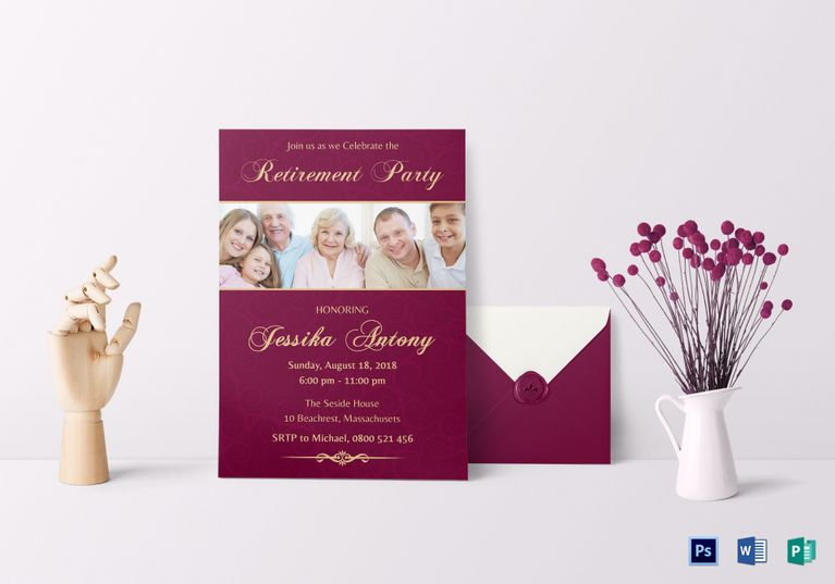 Retirement Party Invitation Template  Invitation Card Templates