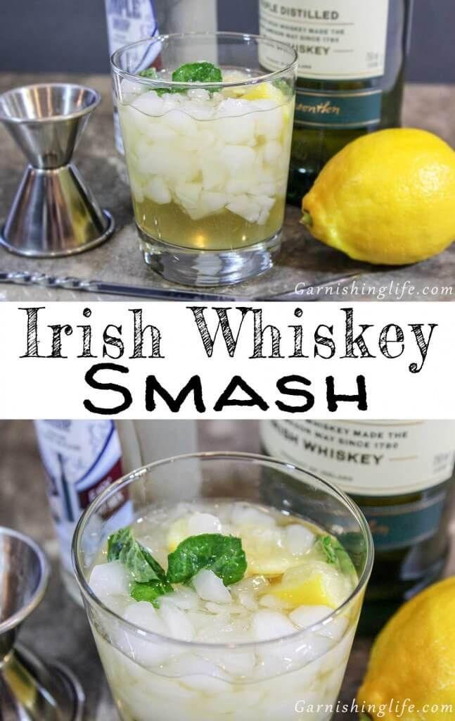 Irish Whiskey Smash Cocktail Recipe | Garnishing Life