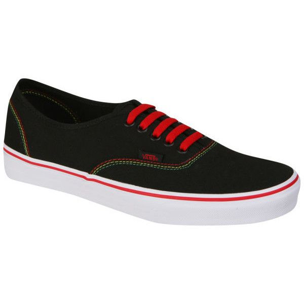 a94b9d94233669 Vans Authentic Canvas Rasta Trainers - Black Red ( 64) ❤ liked on Polyvore