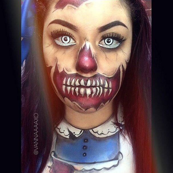 13 Terrifyingly Cool Face Paint Looks to Steal the Show on - Cool Halloween Face Makeup