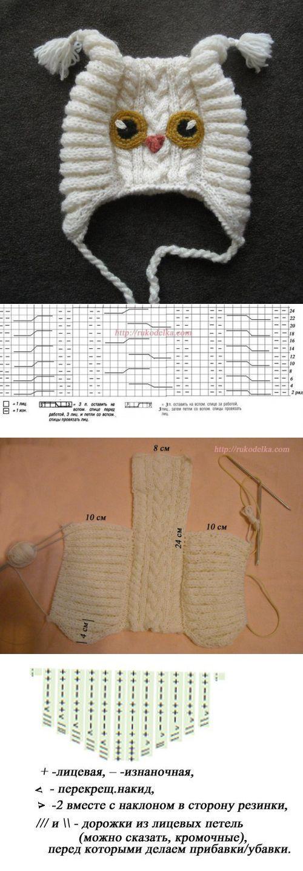 vk.com   crochet   Pinterest   Gorros, Tejido y Bebe