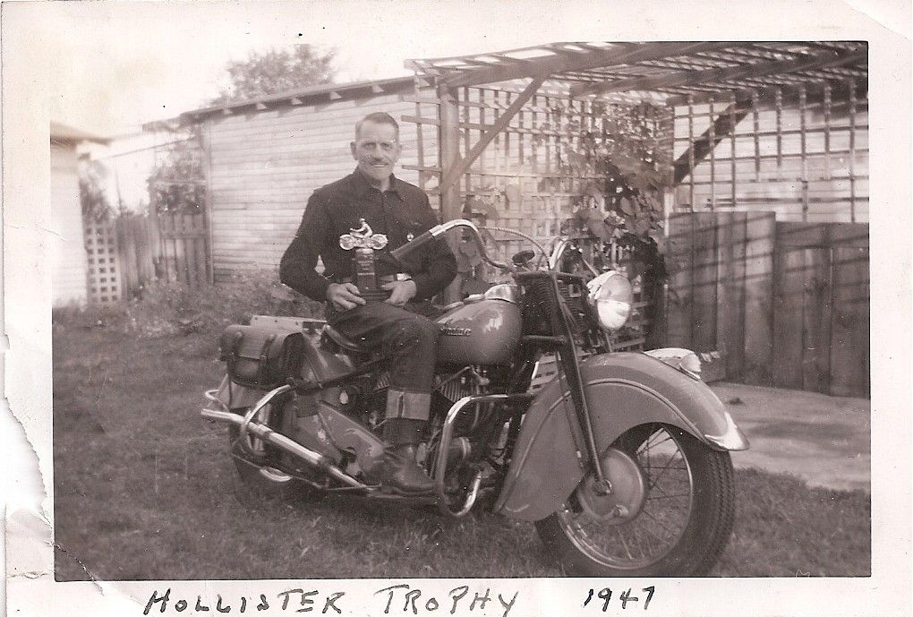 13 Rebels Mc Motorcycle Club Ardin Van Syckle With Hollister Trophy 1947 Motorcycle Clubs Motorcycle Biker Life