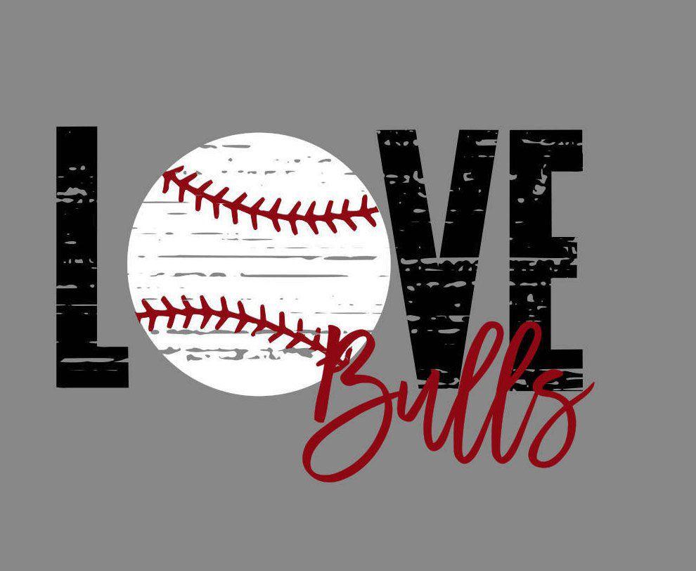 Download Love Distressed Baseball Bulls SVG   Etsy   Baseball svg ...