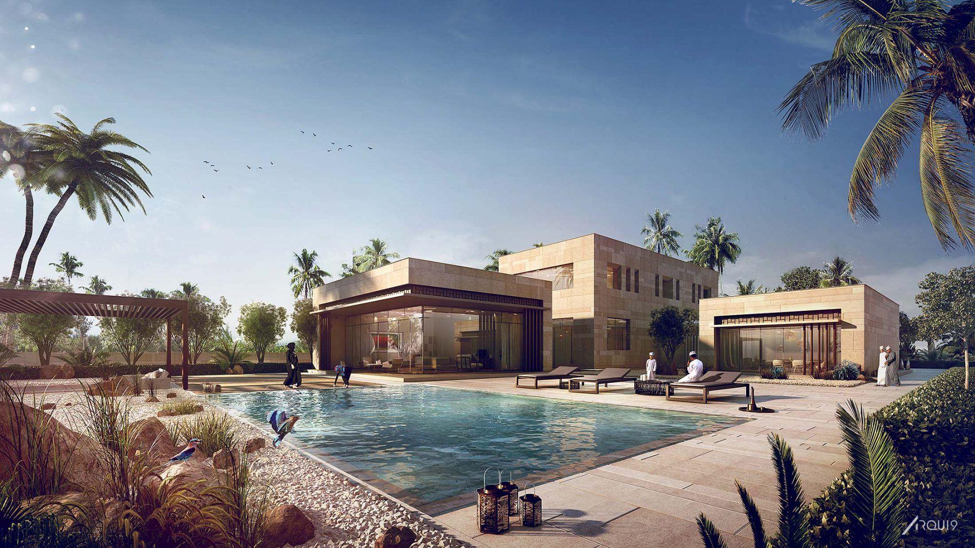 PERKINS+WILL Oman villas Arqui9 Visualisation
